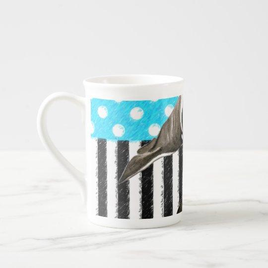 Orca Blue Polka Dot Tea Cup