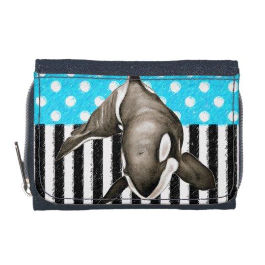 Orca Blue Polka Dot Wallets