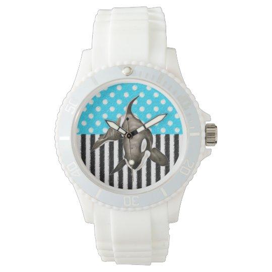 Orca Blue Polka Dot Watch