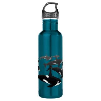 Orca Custom Killer Whale Art Bottles 710 Ml Water Bottle