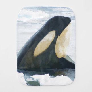 Orca Killer Whale Burp Cloth