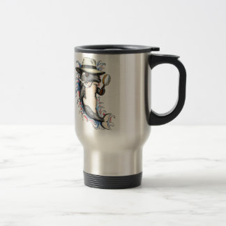 Orca Killer Whale Detective Tattoo Travel Mug