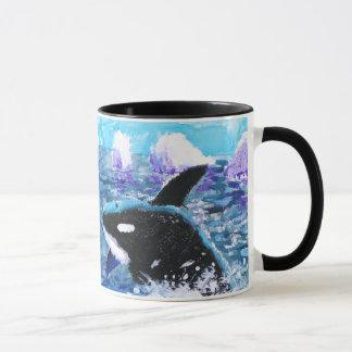 Orca Killer Whale Painting Mug