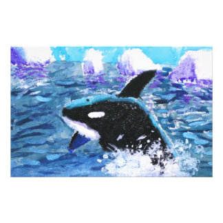 Orca Killer Whale Painting Stationery Design