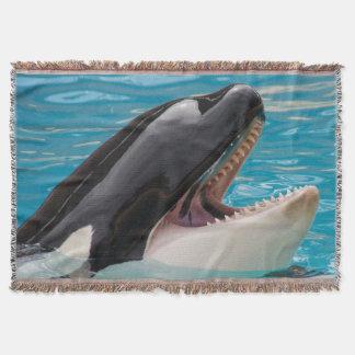 Orca, killer whale throw blanket