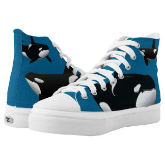 Orca Killer Whale Zipz High Top