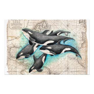 Orca Map Atlas Customised Stationery