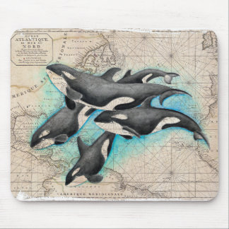 Orca Map Atlas Mouse Pad