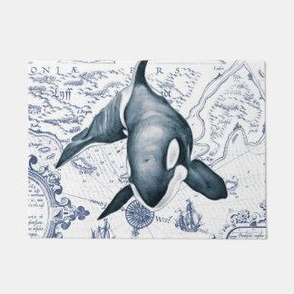 Orca Map Blue Doormat