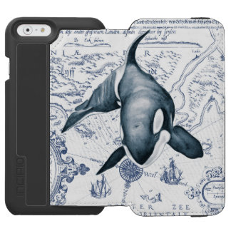 Orca Map Blue Incipio Watson™ iPhone 6 Wallet Case