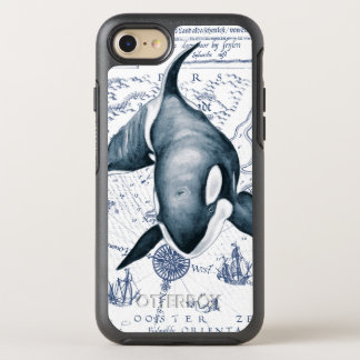 Orca Map Blue OtterBox Symmetry iPhone 8/7 Case