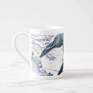 Orca Map Blue Tea Cup