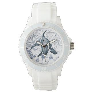 Orca Map Blue Wrist Watch