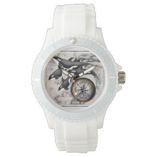 Orca Nautical Compass Watch