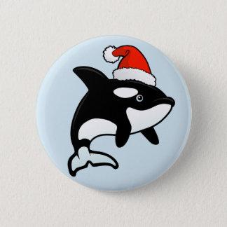 Orca Santa 6 Cm Round Badge