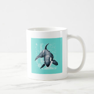 Orca Teal White Coffee Mug