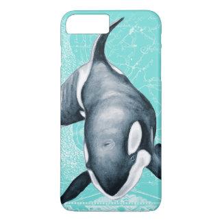 Orca Teal White iPhone 8 Plus/7 Plus Case