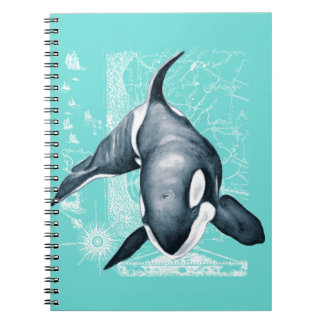 Orca Teal White Notebook