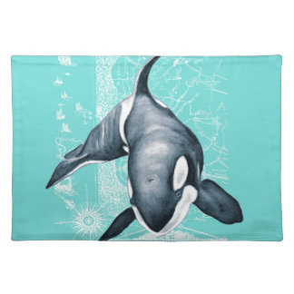 Orca Teal White Placemats
