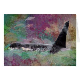 Orca Whale Fantasy Dream - I Love Whales Card