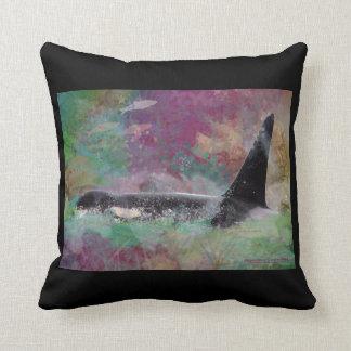 Orca Whale Fantasy Dream - I Love Whales Cushion