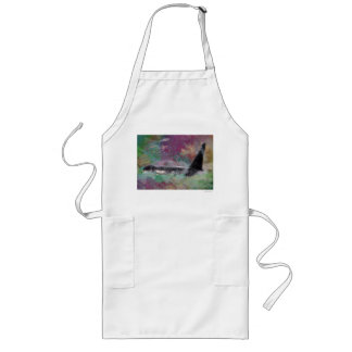 Orca Whale Fantasy Dream - I Love Whales Long Apron