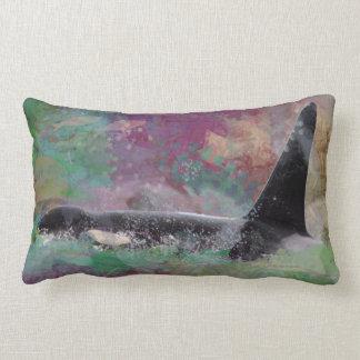 Orca Whale Fantasy Dream - I Love Whales Lumbar Cushion