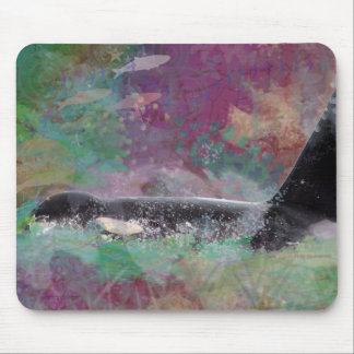 Orca Whale Fantasy Dream - I Love Whales Mouse Pad