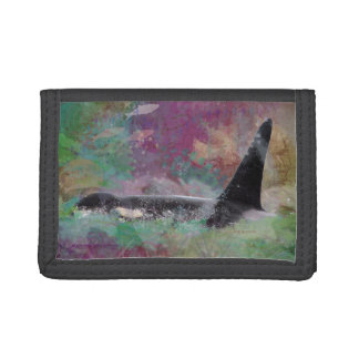 Orca Whale Fantasy Dream - I Love Whales Tri-fold Wallets