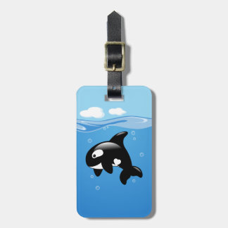 Orca Whale in Ocean Luggage Tag