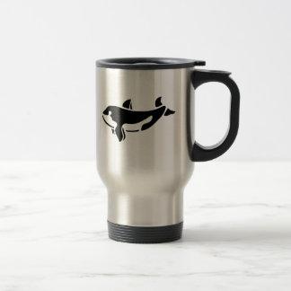 Orca Whale Silhouette Travel Mug