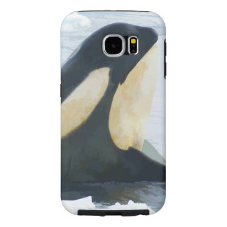 Orca Whale Spyhop blue Samsung Galaxy S6 Cases
