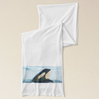 Orca Whale Spyhop blue Scarf
