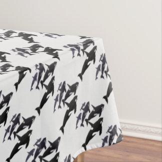 Orca Whale Tablecloth Killer Whale Art Tablecloth