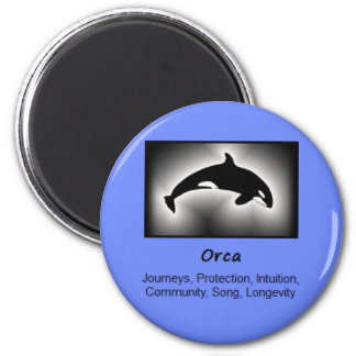Orca Whale Totem Animal Spirit Meaning 6 Cm Round Magnet
