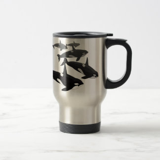 Orca Whale Travel Mug Personalize Killer Whale Mug