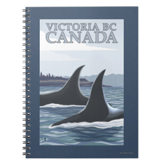 Orca Whales #1 - Victoria, BC Canada Notebook