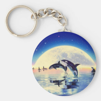 Orca Whales Key Ring