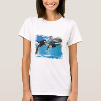 Orca Whales Ladies T-Shirt