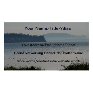 Orcas Island From Birch Bay Pack Of Standard Business Cards