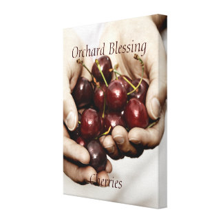 Orchard Blessing. Cherries Photography canvas. Canvas Print