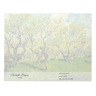 Orchard in Blossom by Van Gogh Memo Note Pad