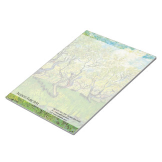 Orchard in Blossom by Van Gogh Notepad