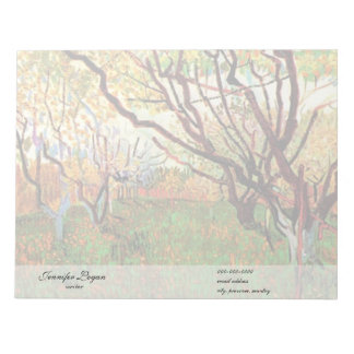 Orchard in Blossom by Van Gogh Scratch Pads