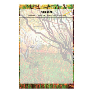 Orchard in Blossom by Vincent van Gogh.  Fine art, Customised Stationery