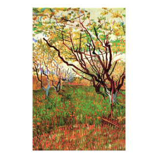 Orchard in Blossom by Vincent van Gogh.  Fine art, Customized Stationery