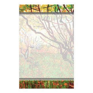 Orchard in Blossom by Vincent van Gogh.  Fine art, Personalized Stationery