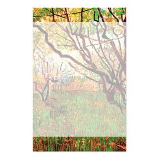 Orchard in Blossom by Vincent van Gogh.  Fine art, Stationery Paper