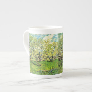Orchard in Blossom by Vincent van Gogh. Porcelain Mugs
