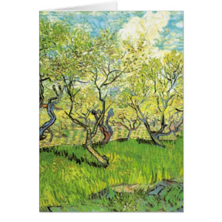 Orchard in Blossom Vincent van Gogh Card